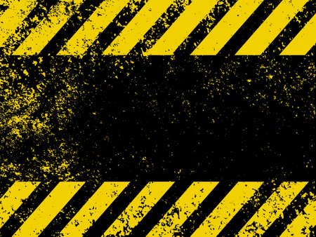 hazard: A grungy and worn hazard stripes texture. EPS 8 vector file included
