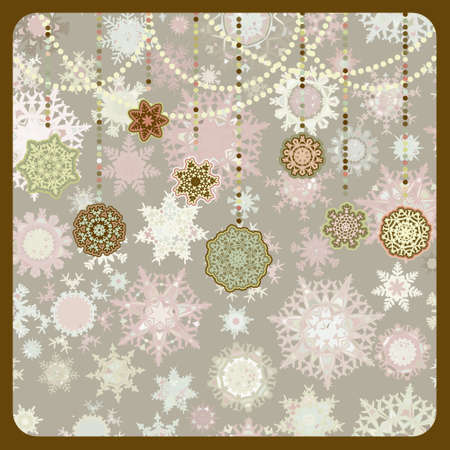 Retro Christmas Ornaments. EPS 8 vector file included Vector