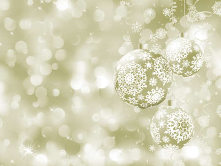 Elegant Christmas balls on abstract background. EPS 8 vector file included Vector