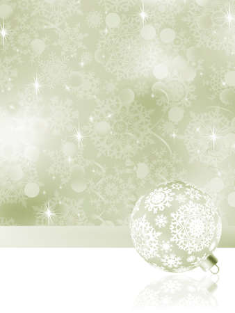 Elegant Christmas balls on abstract background. EPS 8 vector file included Stock Photo - 11656606