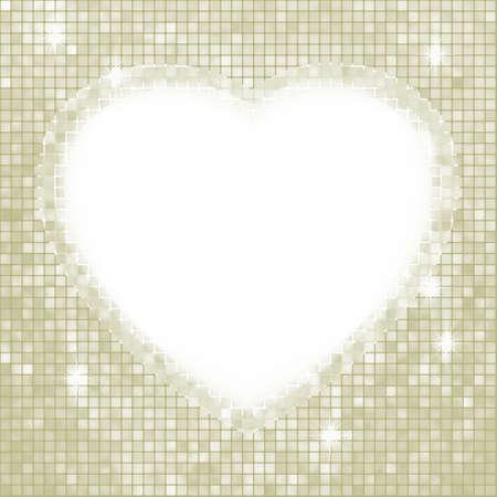 Valentine day mosaic heart card.