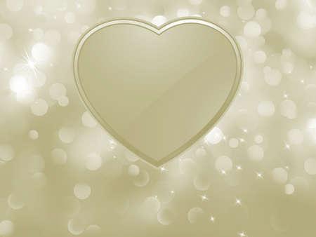 glitter hearts: Bokeh valentine card.