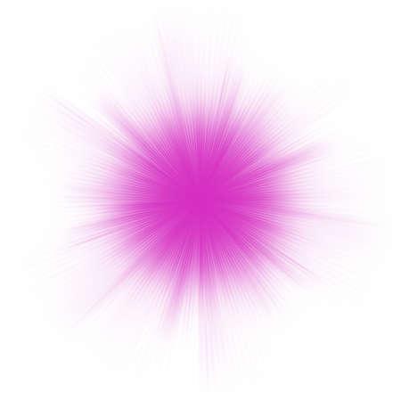 Abstract burst on white, easy edit.