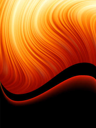 warm colors: Bright blast of light on fire tone background.