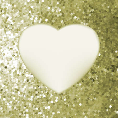 beidge: Elegant mosaic glowing heart background. EPS 8 vector file included Illustration