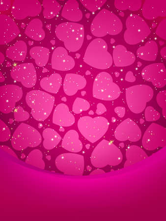 Valentines card with copy space. EPS 8 vector file included  Vector
