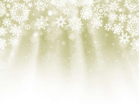 Holiday wavy template with shining snowflakes and copyspace.  Vector