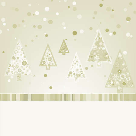 Beautiful Christmas trees.  Vector