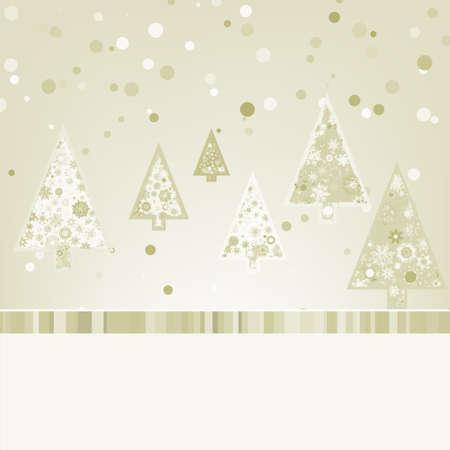 retro styled imagery: Beautiful Christmas trees.