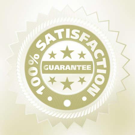 Elegant vintage satisfaction label. Vector