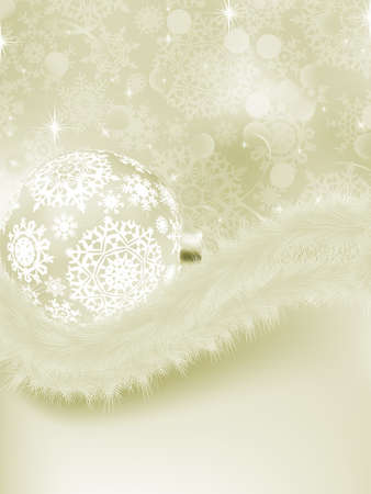 Elegant christmas background with baubles. Vector