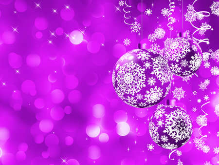 Elegant Christmas card with balls.  photo