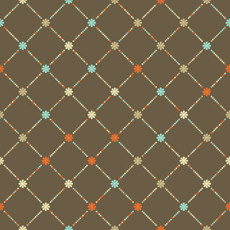 tileable: Retro floral seamless pattern. Illustration