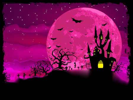 Halloween poster with zombie background.