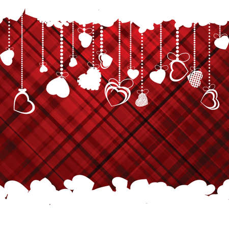 Hearts Valentines day or Wedding template.  Vector