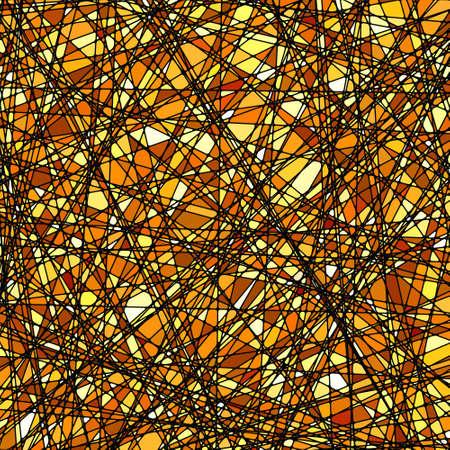 Glas in lood textuur in een gouden toon