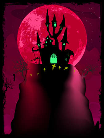 pink hills: Halloween poster background