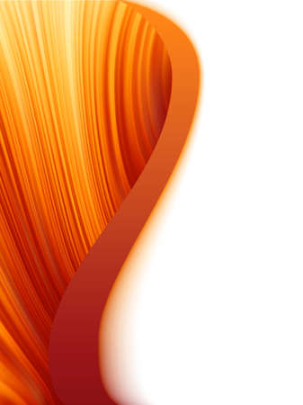 Orange red and white abstract wave burst  Vector