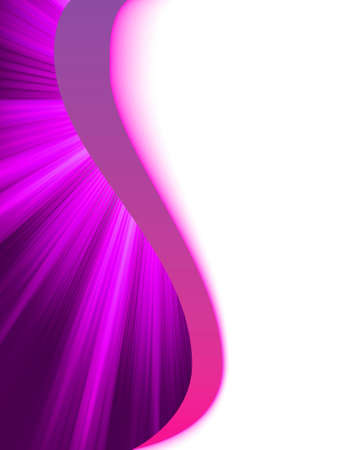 Purple luminous rays photo