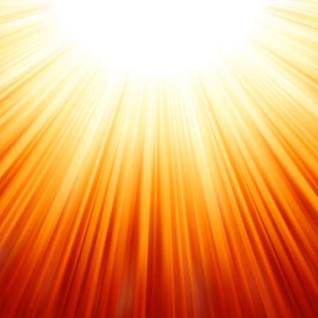 raggi di luce: Star Burst rosso fuoco e giallo