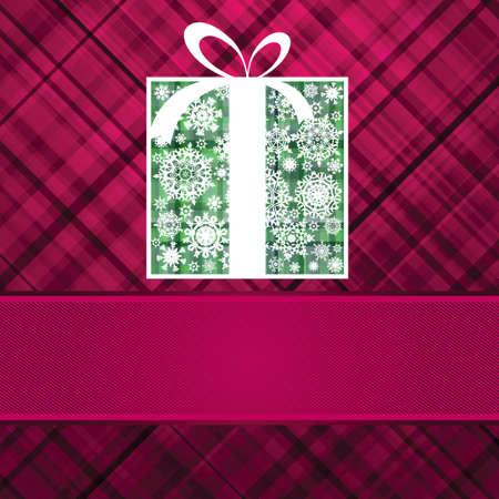 Christmas box card  Vector