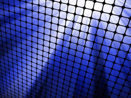 Blue rays light 3D mosaic Stock Vector - 12712658