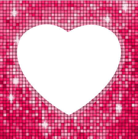 Pink frame in the shape of heart   photo