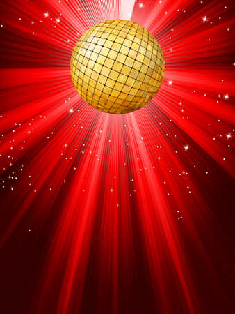 Sparkling red disco ball   Stock Vector - 12712689