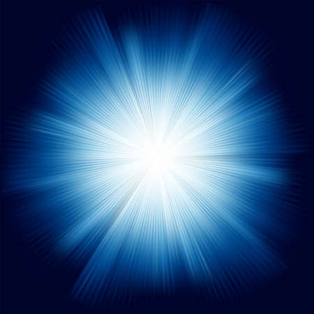 A Blue color design with a burst  Stock Vector - 12712896