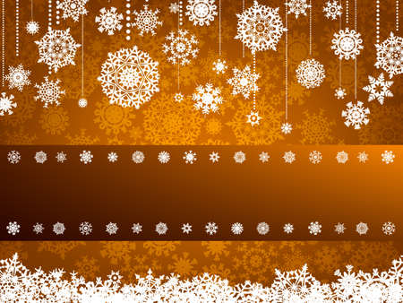Beige christmas background with christmas snowflake  illustration  Vector