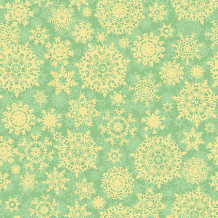 Christmas pattern snowflake background, seamless illustration Vector