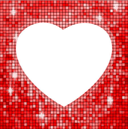 Red fame in the shape of heart illustration Vector