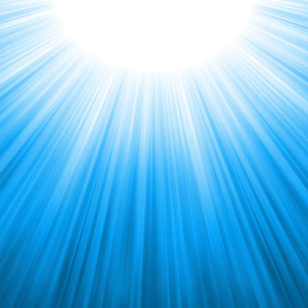 radiate: Sunburst rays of sunlight template illustration Illustration