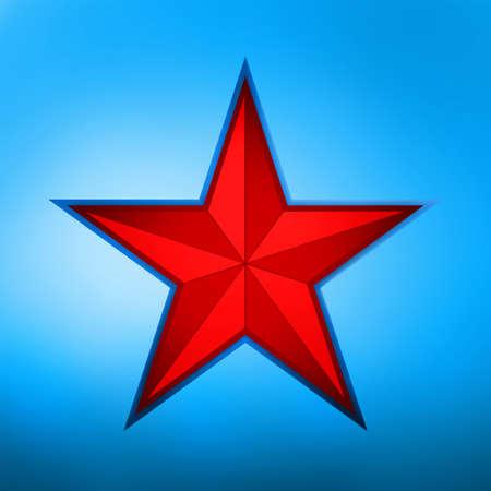 socialism: illustration of a red star on blue background