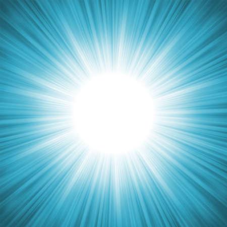Fiocchi di neve e stelle che scendono su un raggi di luce blu illustrazione Vettoriali