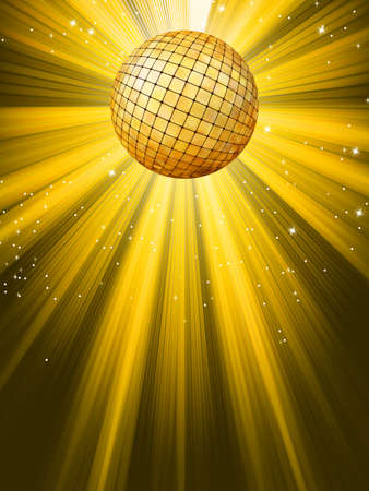 Party Banner with Disco Ball  EPS 8 vector file included Vector