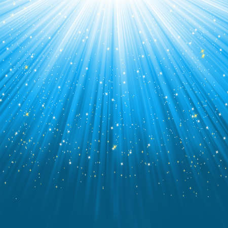 light burst: Blue light burst with stars  EPS 8 vector file included
