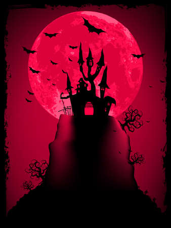 Scary halloween vector with magical abbey  EPS 8 vector file included Stock Vector - 13005820