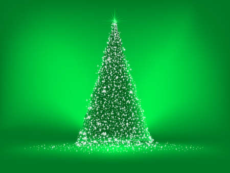 Abstract green christmas green on green background  EPS 8 vector file included Vector