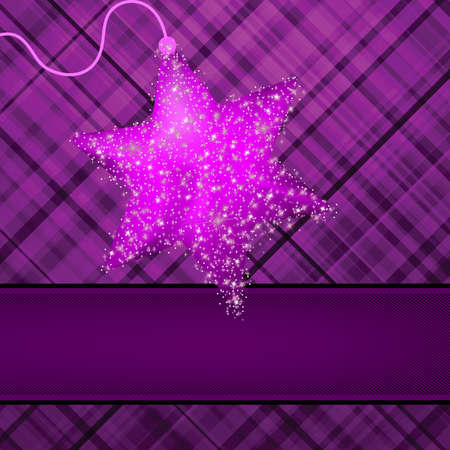 Christmas stars on purple background  EPS 8 vector file included Vector