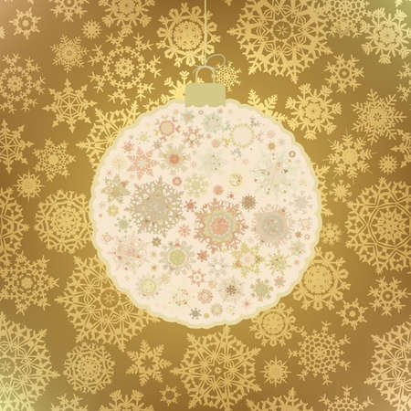 Stylized Christmas Ball, On beige Background vector file included  Stock Vector - 13153053