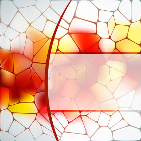 Stained glass design template Vector