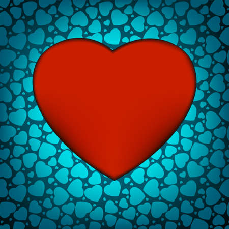 Love background made from blue hearts Vector
