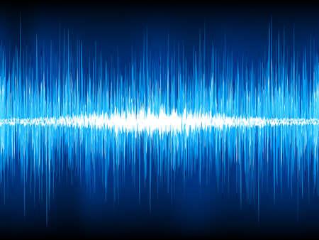 wellenl�nge: Schallwellen oszillierende auf schwarzem Hintergrund