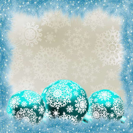 Christmas card with balls. EPS 8 vector file included Vector
