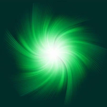 Green Twirl Background Stock Vector - 13305686