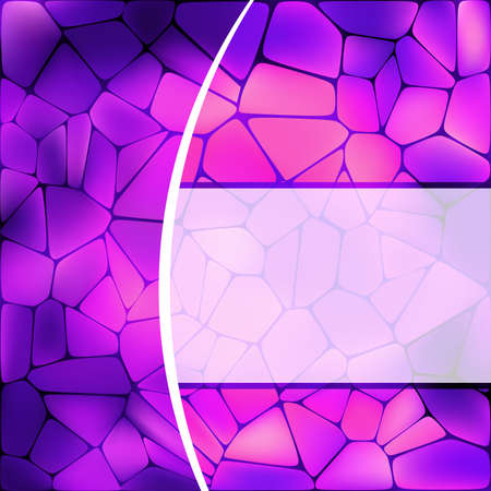 Stained glass design template   Stock Vector - 13305684