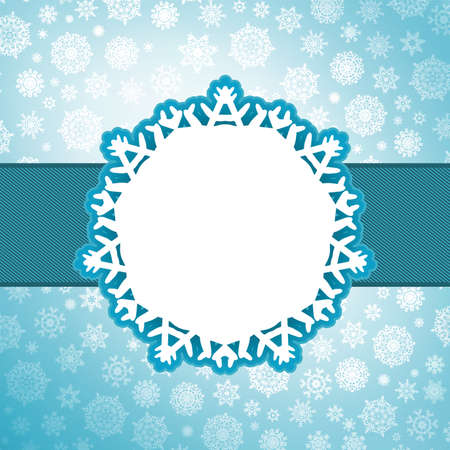 frozen: Christmas background with copyspace