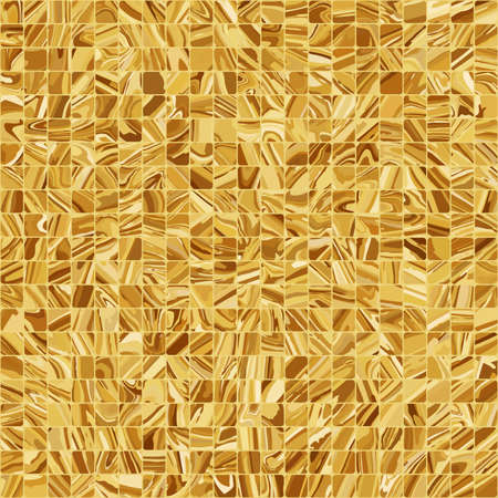 Gold mosaic background Stock Vector - 13396115