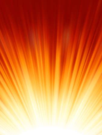 Red luminous rays